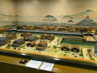 A scale model of the old castle town