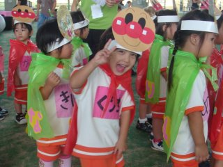 The Matsumoto Preschool is a great place for Japanese and American children to mix; about 10% of the enrollment are children from English speaking households that learn Japanese while at school