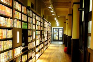 Walls of Manga at the Kyoto International Manga Museum