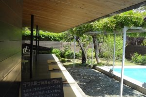 A great place for sitting outdoors and sipping your coffee