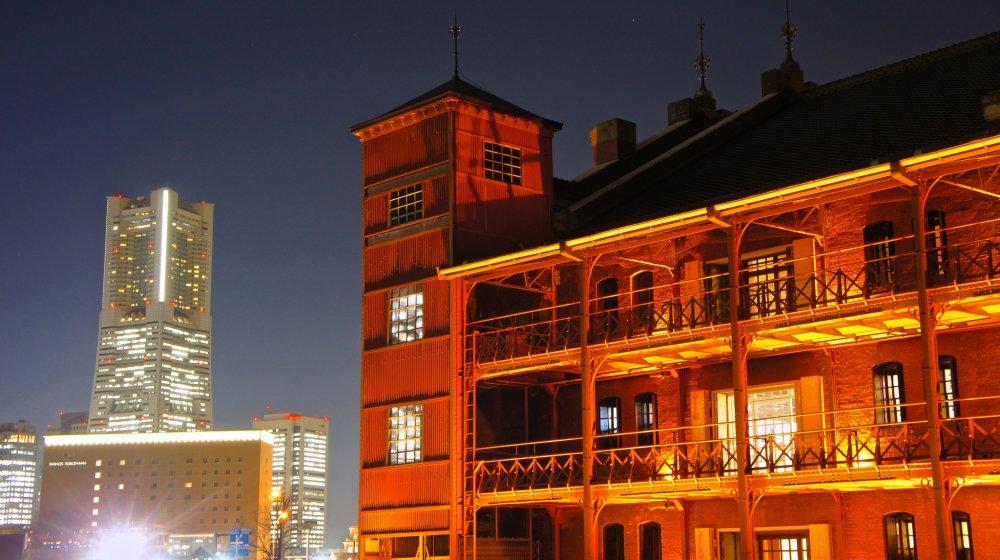 The red brick structure of the Akarenga Soko, or Yokohama Red BrickWarehouse