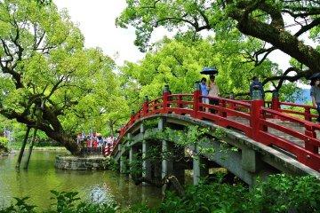 游船旅客福冈海滨游览