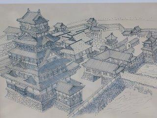 ポルトガルの宣教師ルイス・フロイスが本国宛の書簡で北庄城について「この城ははなはだ立派で、今、大きな工事をしており・・・城および他の家のやねがことごとく立派な石で葺いてあって・・・」述べている。