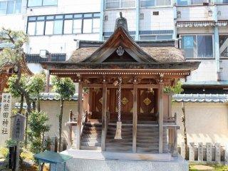 柴田勝家を祀る柴田神社。北庄城公園内にある