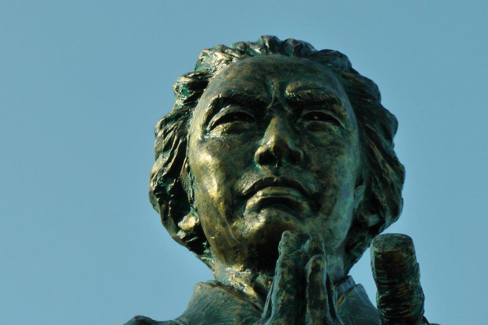 龍馬の銅像クローズアップ