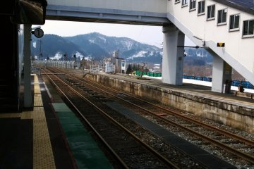 <p>A view from the platform.</p>