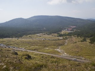You can see the Ebino Eco Museum Center and Rt. 1