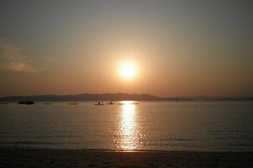 Sunset on the Seto Inland Sea