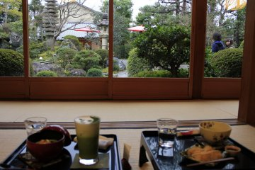 <p>Each person will get their own little table and a cushion for sitting on the tatami mat.</p>