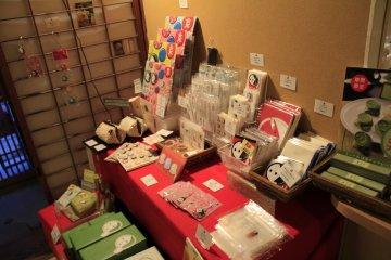 <p>souvenirs for sale at Yojiya Caf&eacute;, Ginkakuji</p>