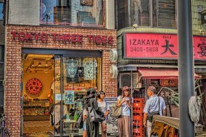 บรรยากาศภายในร้าน Three tides tattoo สาขาโตเกียว
