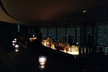 <p>The view from the bar at the Sky Lounge at the Prince Park Tower Hotel.</p>