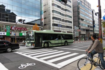 Buses criss cross Kyoto City, usually with less than 15 minute wait times