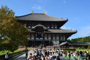 """ศาลาพระองค์ใหญ่""""Todaiji 's main hall, the Daibutsuden"""" ( Big Buddha Hall)"""