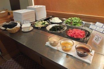 <p>Fresh salad bar</p>