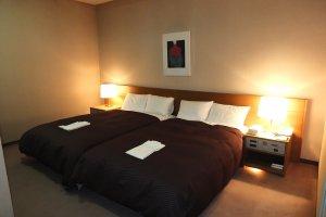 The Deluxe Rooms' bedroom