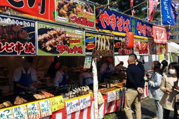 <p>Many tasty foods to enjoy are on sale during hanami&nbsp;season.&nbsp;</p>