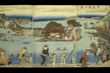 Chiyomoto (千代本) is an authentic Japanese restaurant that regularly showed up in Hiroshige's ukiyoe woodblock prints in and around 1834 .