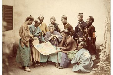 One of Beato's many photos of Japanese people (circa 1865).