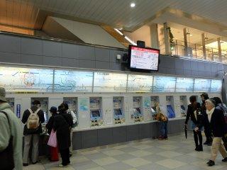 นอกจากซื้อตั๋วเดินทางจากเครื่องขายตั๋วอัตโนมัติแล้ว วิธีการที่ประหยัดในการมาโยชิโนะ คือ การใช้บัตร Kintetsu มาลงที่ สถานีYoshino(Nara) ระยะเวลาเดินทางเกือบๆสองชั่วโมง