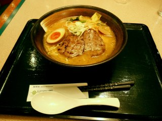 Ox tongue ramen served at Sendai airport