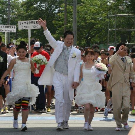 Sakuranbo Marathon in Higashine