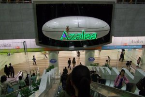 "The ""Azalea"" sign opens up and plays music every hour"