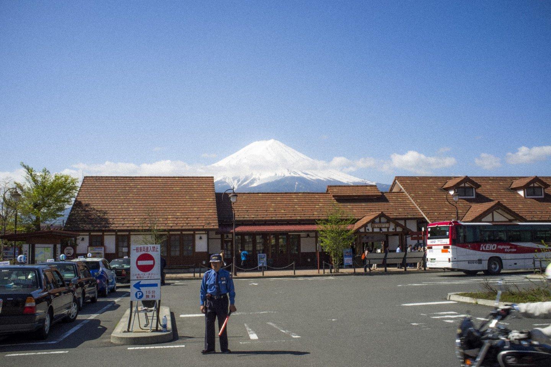 Mount Fuji from Kawaguchiko Station
