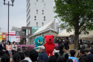 Even Chiba-kun, Chiba Prefecture's red mascot, made an appearance.