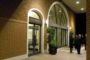 Entrance of Seaside Hotel Maiko Villa Kobe at night