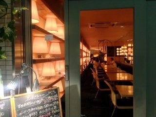 Nijo Teramachiis filled with romantic cafes after dark.