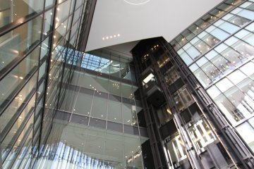 <p>The shiny glass interiors</p>