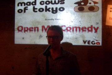 An Englishman walks into a bar: action from the Mad Cows' stand-up night