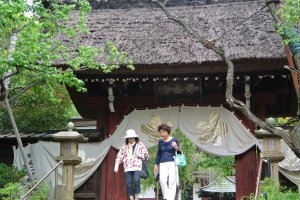 Main Gate (Sanmon) was built with thatched roof in 1695
