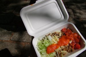 Taco rice - the famous Okinawan take on Mexican cuisine
