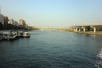 Sumida River, running through central Tokyo