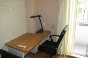 <p>The desk</p>