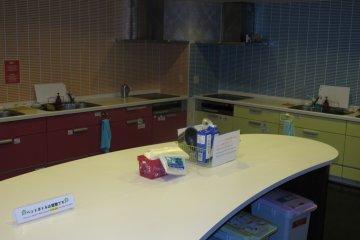 <p>The kitchen</p>