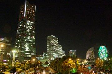 <p>View of Minato Mirai and Landmark Tower from Osanbashi Pier</p>