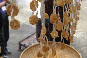 Dried daikon.
