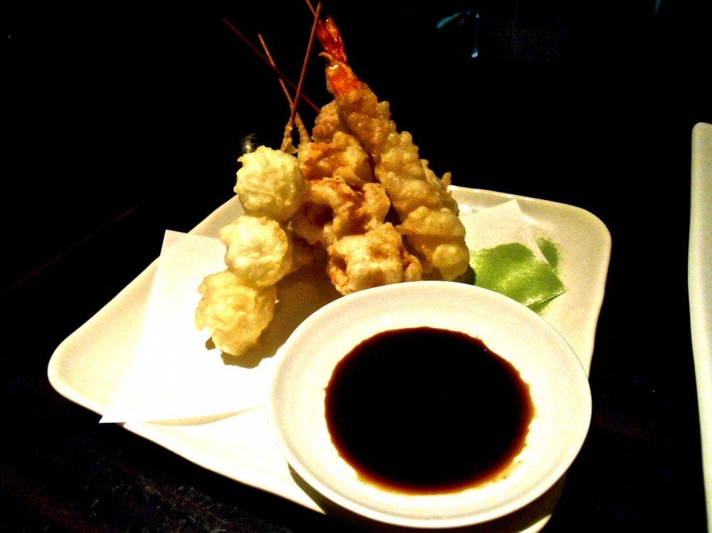 Skewered Tempura, one of their signature dishes....they taste VERY GOOD!