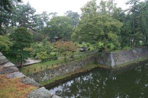 The castle gardens at Tsu.