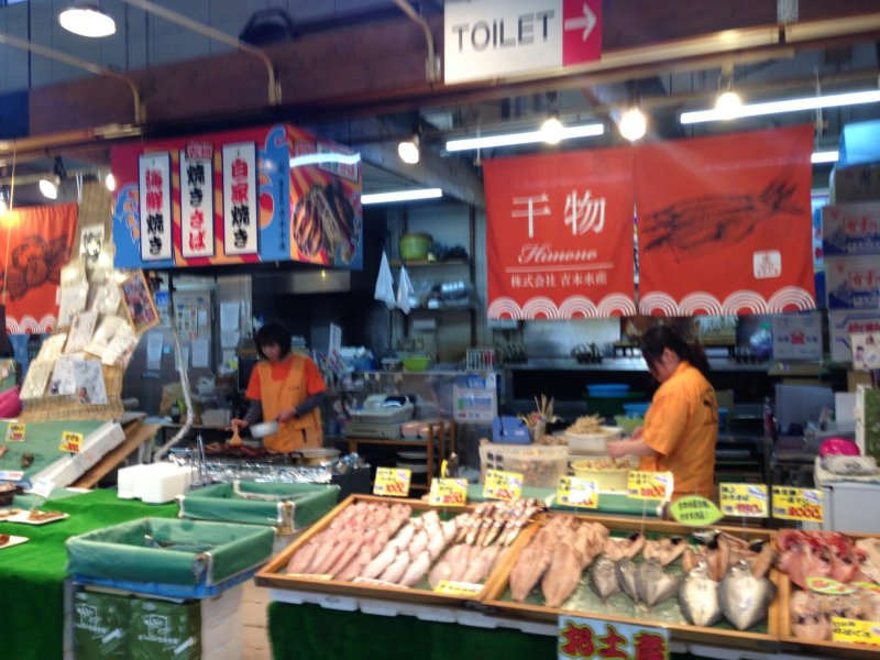 <p>Chat to the local vendors in Japanese and some of them can also cook the fish for you (it takes about 30 to 60 minutes depending on the fish and time of day)</p>