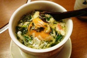 The very delicious crab and sea urchin chawan mushi
