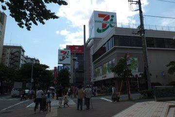 <p>ด้านหน้าของตึก</p>
