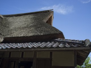 Roof of the Ajimano teahouse.