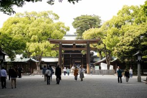 Meiji Shrine entrance nearYoyogiPark in Harajuku, Tokyo