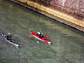 There were quite a few people taking advantage of the calm water, warm weather and beautiful scenery by having a short kayak ride along the river. It was also nice to see the firstpetals floating on the water—a perfect day for kayaking.