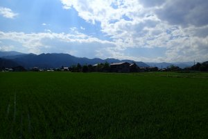 View of the satoyama in Hida