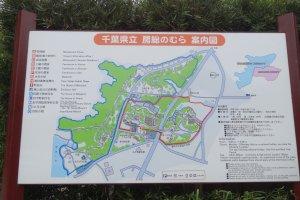 แผนผังของพิพิธภัณฑ์กลางแจ้งโบะโซะ โนะ มุระ